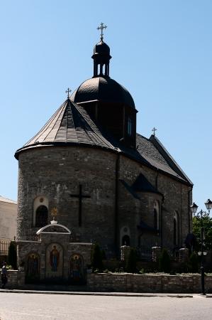 Orthodox church built of stone, Ukraine