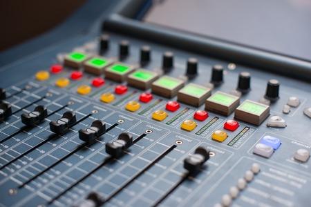 Large Music Mixer desk at he Concert Standard-Bild