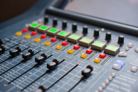 Large Music Mixer desk at he Concert Stock Photo