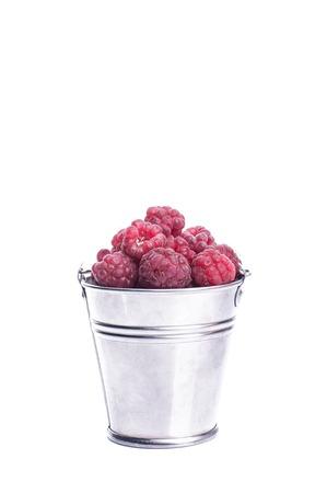 Raspberries isolated Standard-Bild