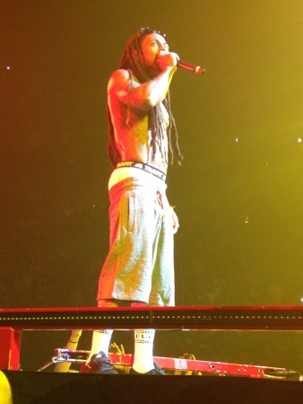 Picture of Lil Wayne from his concert