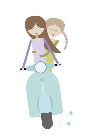 motobike: Girl on the motobike