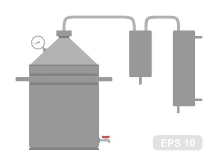 mini bar: Home Alcohol machine Bathtub gin, hooch apparat