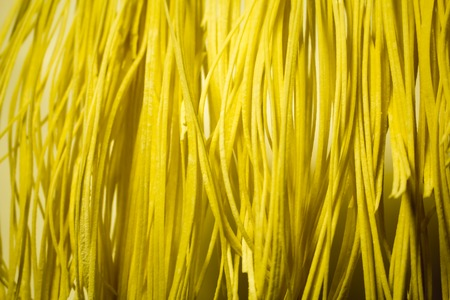 selfmade: House self-made noodles dry in a trailing condition Stock Photo