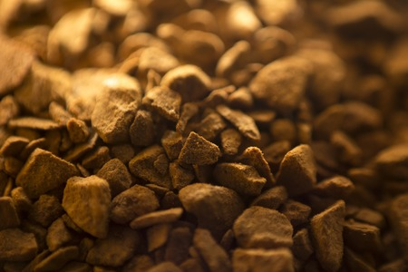 granulation: Desert of granulation of soluble coffee good textured