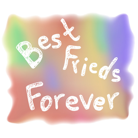 doodle text: Friends day gift card template. hand-drawn doodle text. design for greeting card Illustration