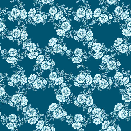 bicolor: Abstract flowers seamless pattern. bicolor vector background. Illustration