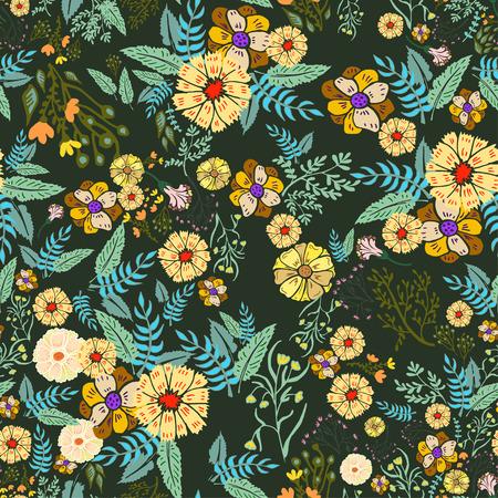 flores abstractas: Resumen flores sin patr�n. Fondo colorido del vector