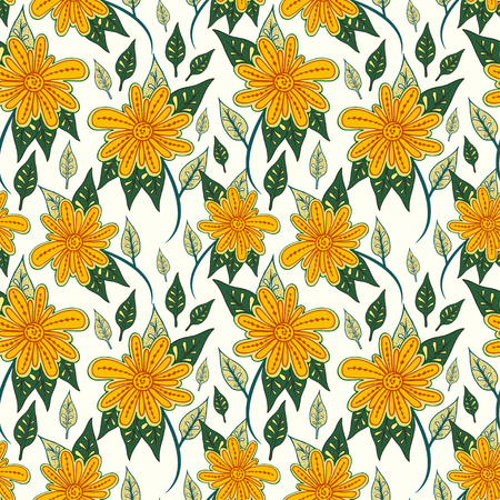 abstract flowers: Abstract flowers seamless pattern. Colorful vector background.