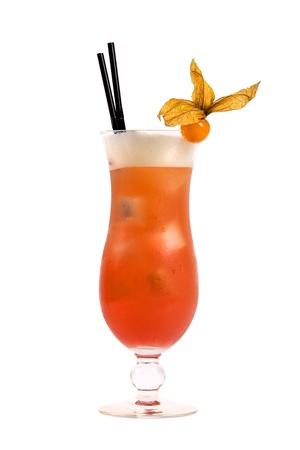 orange cocktail isolated on white background photo