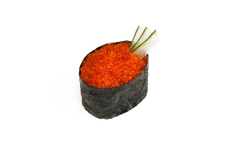 susi: gunkan tobiko susi on a white background