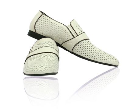 Man shoes on white background Stock Photo - 13206631