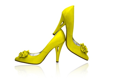 Women shoes on white background photo