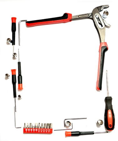 Set of tools on a white background Stock Photo - 13792754
