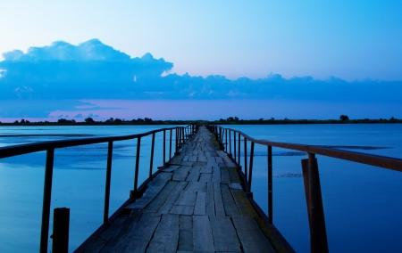 purposeful: long bridge to clouds