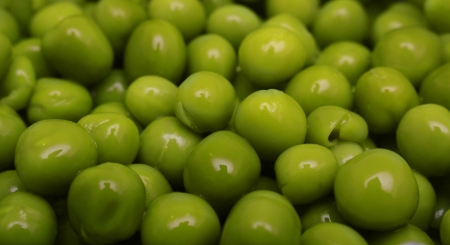 canned peas: Background of green canned peas