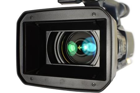 digicam: Video camera on white background Stock Photo