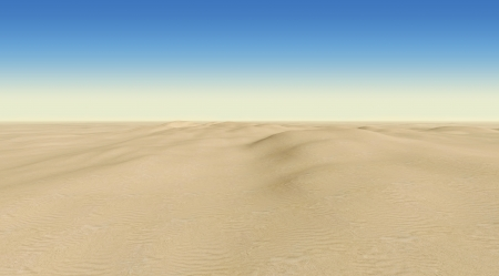 desert scenes: desert on a background of blue sky Stock Photo