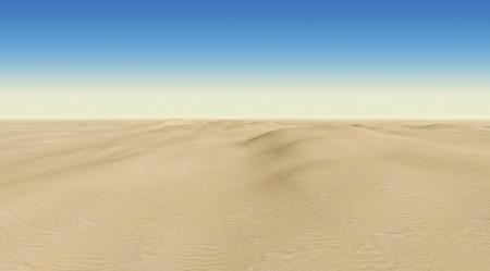 arenas movedizas: desierto sobre un fondo de cielo azul