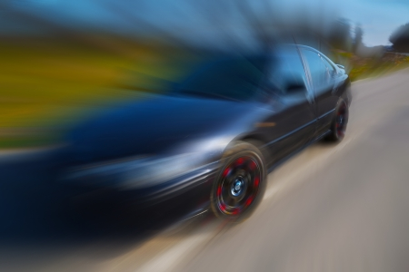 highroad: car in motion Stock Photo