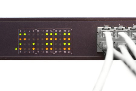 Cable and network switch  photo