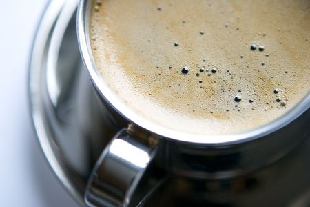 froth: A cup of coffee with froth