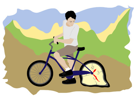 depend: Man with bicycle Illustration