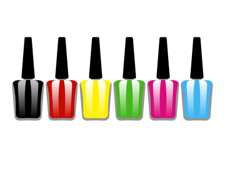 flacon vernis � ongle: ongles bouteille de vernis Illustration
