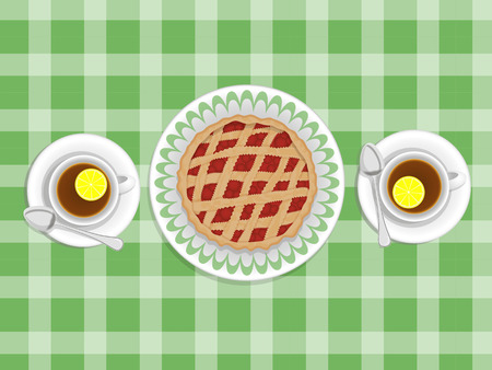 uplifting: pie and cups of tea