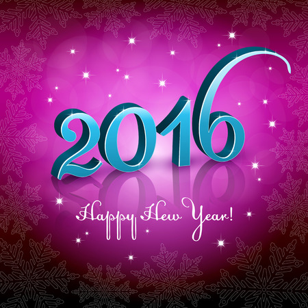 number 16: New Year 2016 Pink background