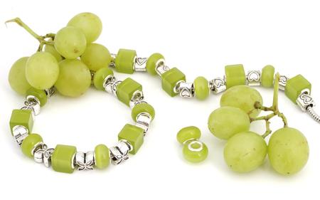 circlet: green pandora bracelet and grapes