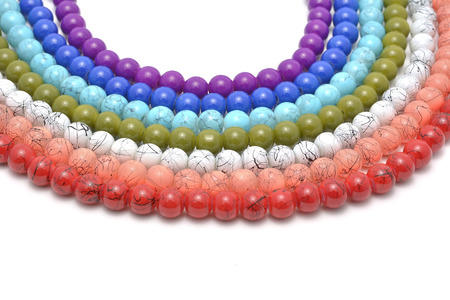 chaplet: Rainbow chaplet - multicolored glass and natural beads strung on thread