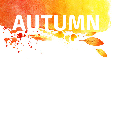 Autumn grunge watercolor background. illustration illustration