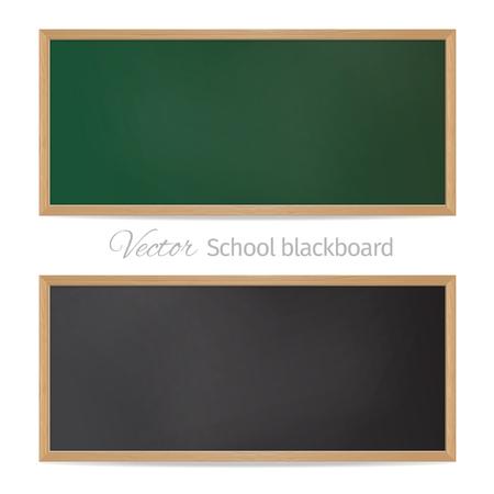 Blackboards. Black and green