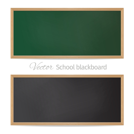 Blackboards. Black and green