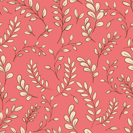 Seamless leaf pattern. Vector