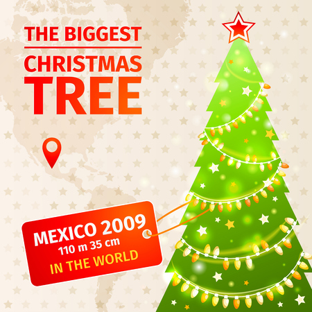 biggest: Infographic. The biggest Christmas tree.