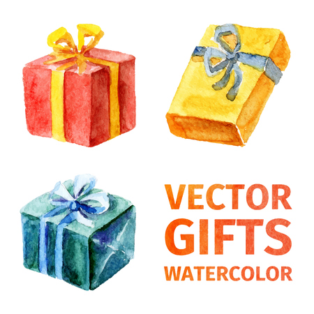 paint box: Vector gifts. watercolor 2.