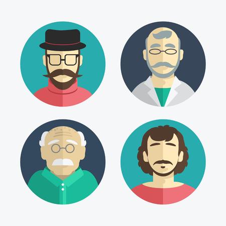 illustration of flat design men icons collection Illustration