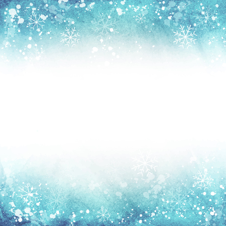 winter illustration. frame with snowflakes.  Vector template