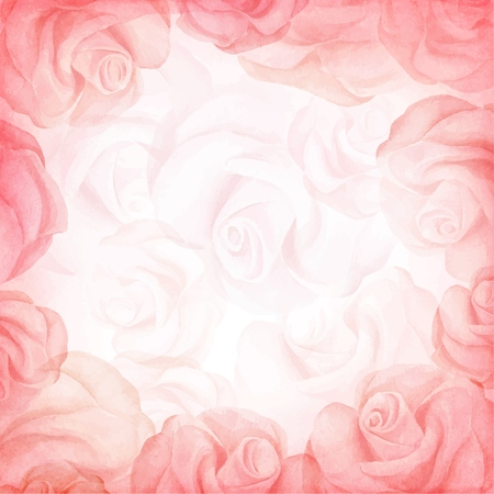 Abstract romantic vector background in red colors. Vector illustration