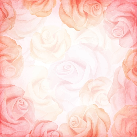 Abstract romantic vector background in pink colors. Vector illustration Çizim
