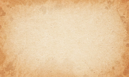 Realistic dirty brown cardboard stained vector texture. horizontal background