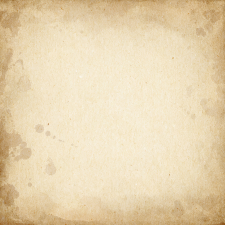 sheet of paper: Realistic brown cardboard stained texture. Illustration