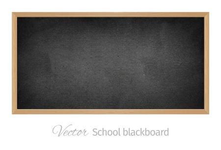 Black school blackboard. Isolated vector object