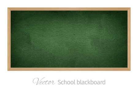 Black school blackboard. Isolated vector object