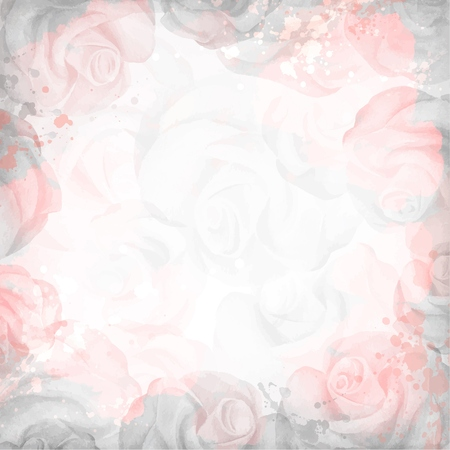 Abstract romantic rose background in pink and gray colors