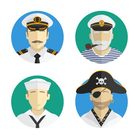 captain hat: sailor Avatars Illustration