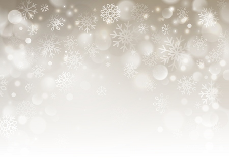 beige background: Christmas beige background with snowflakes.   Illustration