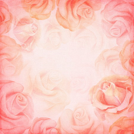 wedding backdrop: Abstract romantic rose square background.
